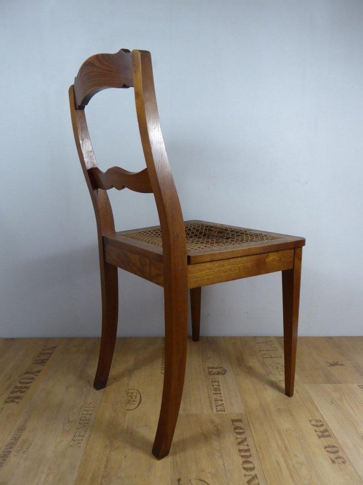 sch ner esche holz stuhl geflecht biedermeier gr nderzeit. Black Bedroom Furniture Sets. Home Design Ideas