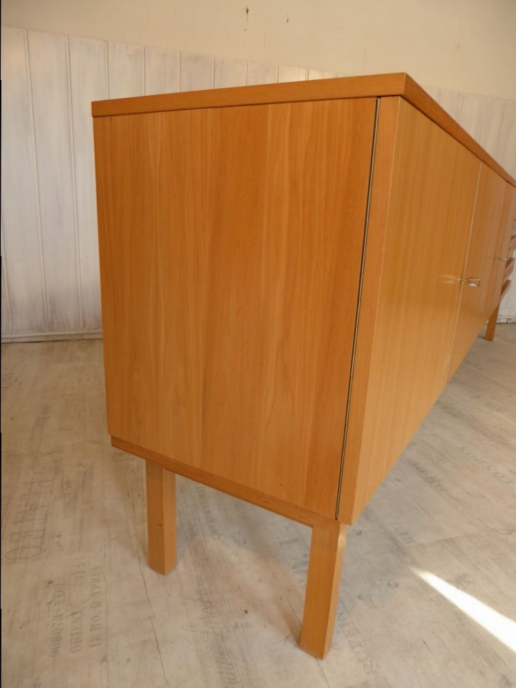 60s mid century esche lowboard sideboard kommode musterring bs 50er 60er 250cm ebay. Black Bedroom Furniture Sets. Home Design Ideas