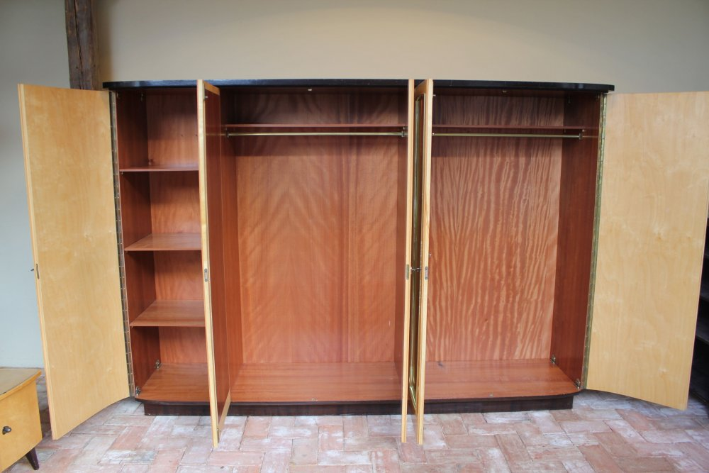 50s teak birke multi schrank kleiderschrank vertiko. Black Bedroom Furniture Sets. Home Design Ideas