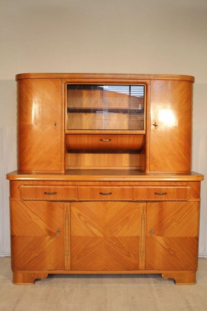 mid century 50s k chenschrank k chenbuffet anrichte esche 50er 60er retro ebay. Black Bedroom Furniture Sets. Home Design Ideas