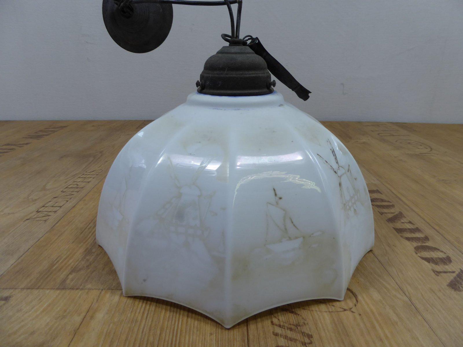 deckenlampe holland k chenlampe glasschirm jugendstil landhaus vintage 4 ebay. Black Bedroom Furniture Sets. Home Design Ideas