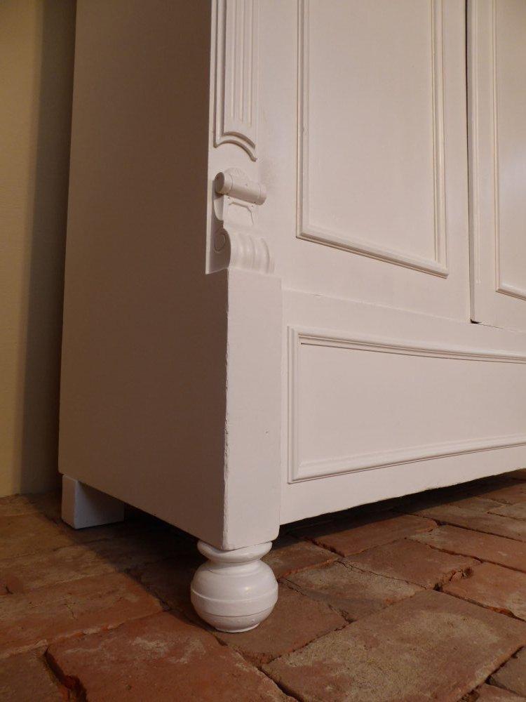 antiker gr nderzeit kleiderschrank dielenschrank 190cm hoch shabby landhaus ebay. Black Bedroom Furniture Sets. Home Design Ideas