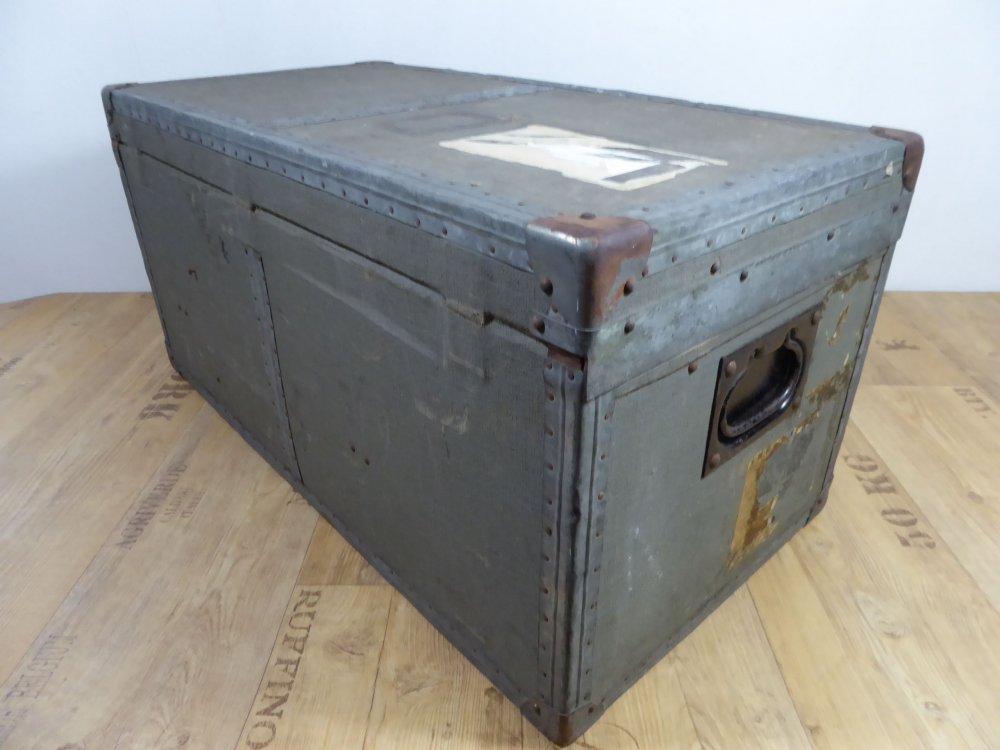 alte holzkiste reise truhe jugendstil vintage couchtisch g rlitz kofferfabrik ebay. Black Bedroom Furniture Sets. Home Design Ideas
