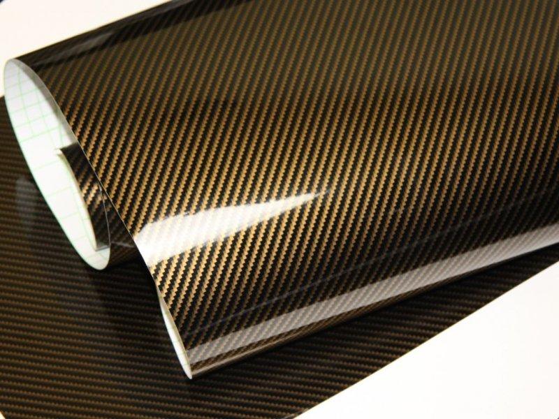Preis 21 00 m 2d autofolie carbon folie gold schwarz for Selbstklebende folie schwarz