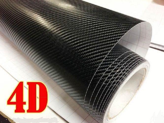 50 x 100cm carbon 4d auto motorrad folie schwarz aufkleber autofolie klebefolie ebay. Black Bedroom Furniture Sets. Home Design Ideas