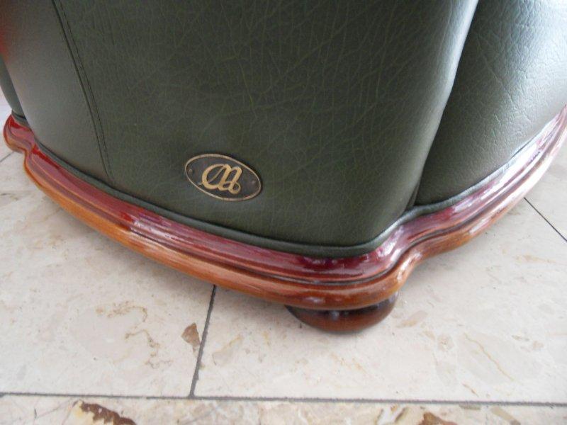 Alberto Nieri Ledersofa Ledercouch Couch Sofa Echt Leder grün Made ...