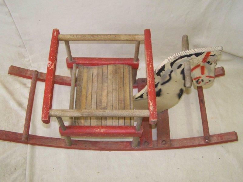 ancien jouet en bois cheval cheval bascule. Black Bedroom Furniture Sets. Home Design Ideas