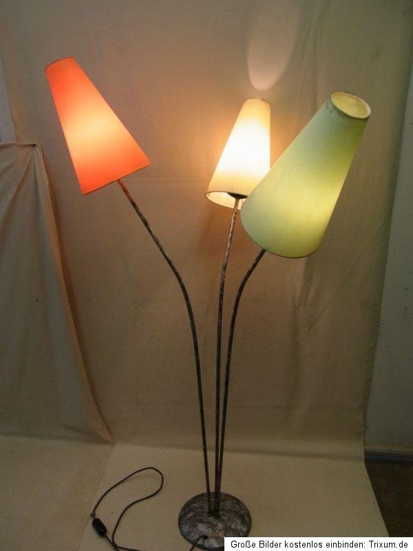 seltene ddr stehlampe 50er jahre t tenlampe vintage retro. Black Bedroom Furniture Sets. Home Design Ideas