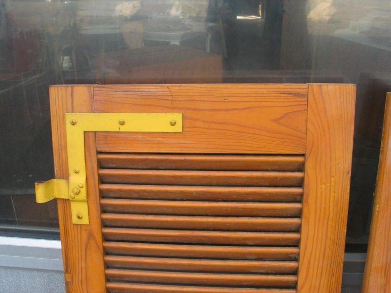 2 alte holz fensterl den mit lamellen 122 x 51 3 ebay. Black Bedroom Furniture Sets. Home Design Ideas