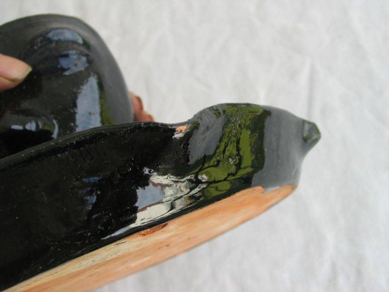 alte keramik schale mit gef gesicht beidseitig sign wohl 50er 60er jahre ebay. Black Bedroom Furniture Sets. Home Design Ideas