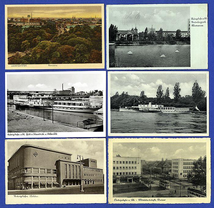 Stadt ludwigshafen stra enbahn rhein schiffahrt 9 alte postkarten ab 1934 ebay - Gartenbau ludwigshafen ...