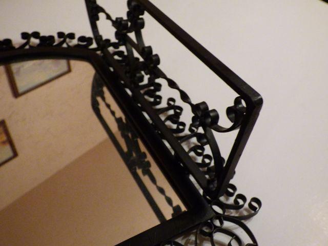 Spiegel spieglein mit metallrahmen wandspiegel originell mit klappt ren ebay - Wandspiegel mit metallrahmen ...