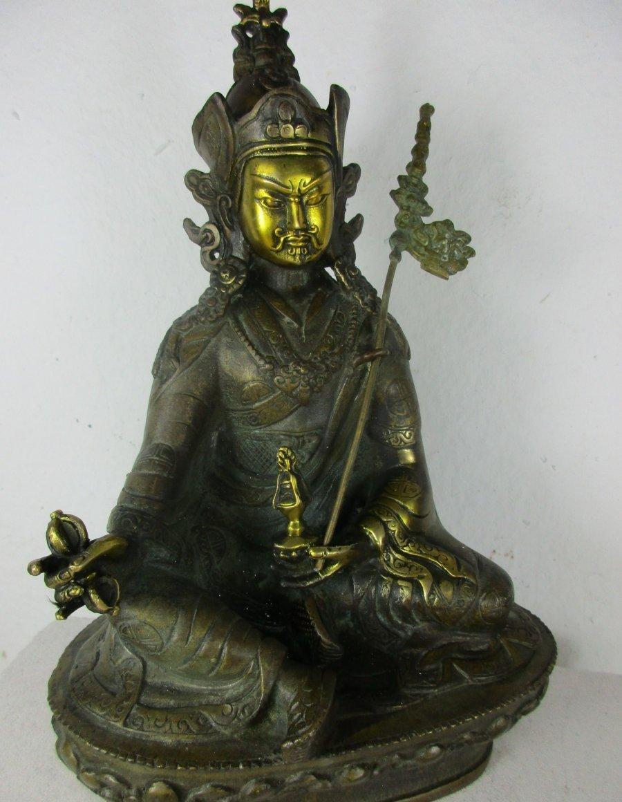 alter guru rinpoche buddha gottheit vergoldet orig