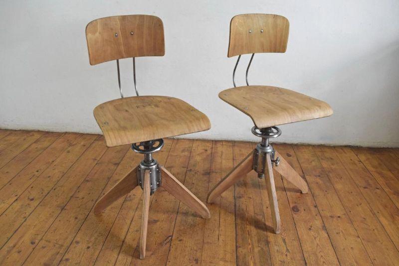 1 of 2 rowac stuhl werkstattstuhl architektenstuhl loft for Stuhl abc design
