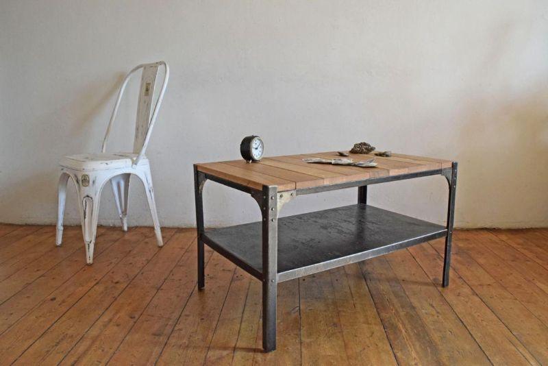 Couchtisch bauhaus industriedesign loft tisch m bel fabrik for Couchtisch bauhaus