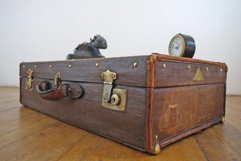 m bel maritim reisekoffer oldtimer antik alt shabby koffer kiste seemannskoffer. Black Bedroom Furniture Sets. Home Design Ideas
