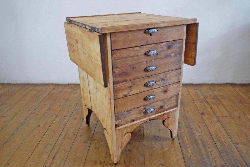 schubladenschrank antik schrank kontor tisch ausklappbar. Black Bedroom Furniture Sets. Home Design Ideas
