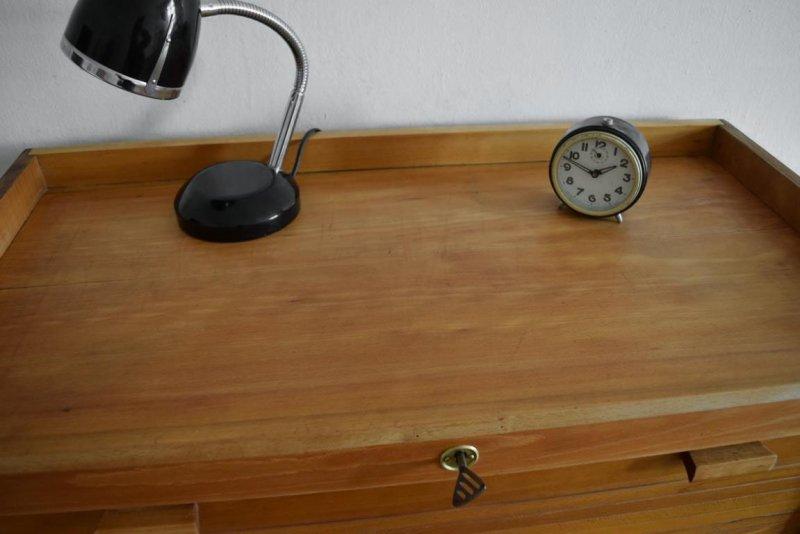 Rolladenschrank Aktenschrank Holz Ahorn ~ Rolladenschrank Antik Aktenschrank Holz Jalousieschrank Vintage Alt