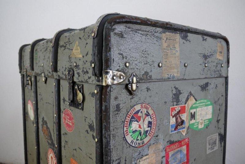 koffer weitgereist alt vintage antik maritim schrankkoffer berseekoffer deko ebay. Black Bedroom Furniture Sets. Home Design Ideas