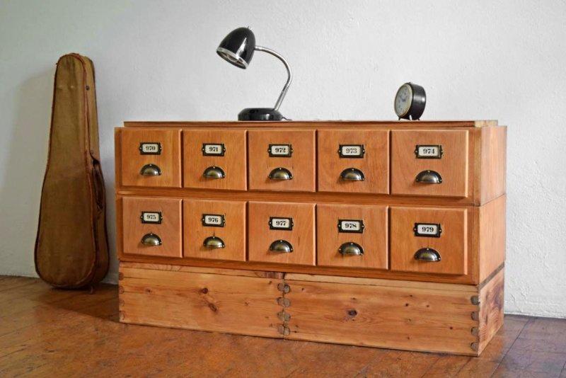 schubladenschrank antik sideboard vintage tv rack holz apothekerschrank alt loft ebay. Black Bedroom Furniture Sets. Home Design Ideas