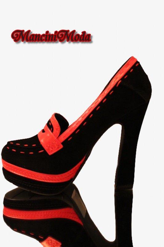 pumps high hell 13cm blockabsatz schwarz plateau ankle. Black Bedroom Furniture Sets. Home Design Ideas