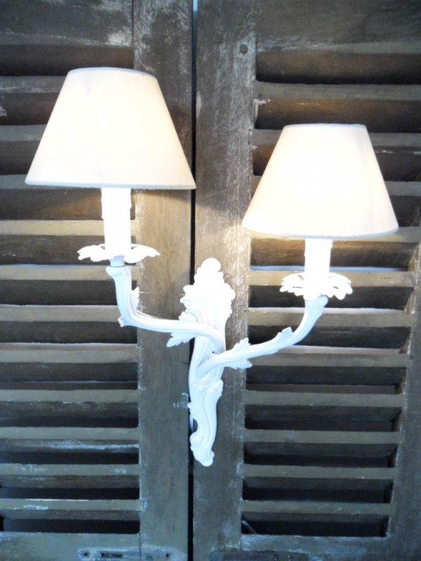lampenschirm klemmschirm aufsteckschirm kronleuchter 10x8x16 offwhite neu ebay. Black Bedroom Furniture Sets. Home Design Ideas