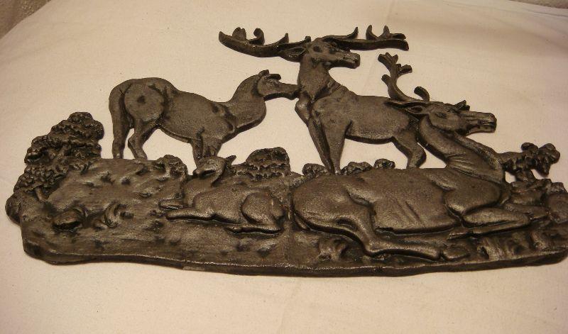 Wandbild relief hirsch familie jagd j ger jagdmotiv guss rar dachbodenfund ebay - Wandbild familie ...
