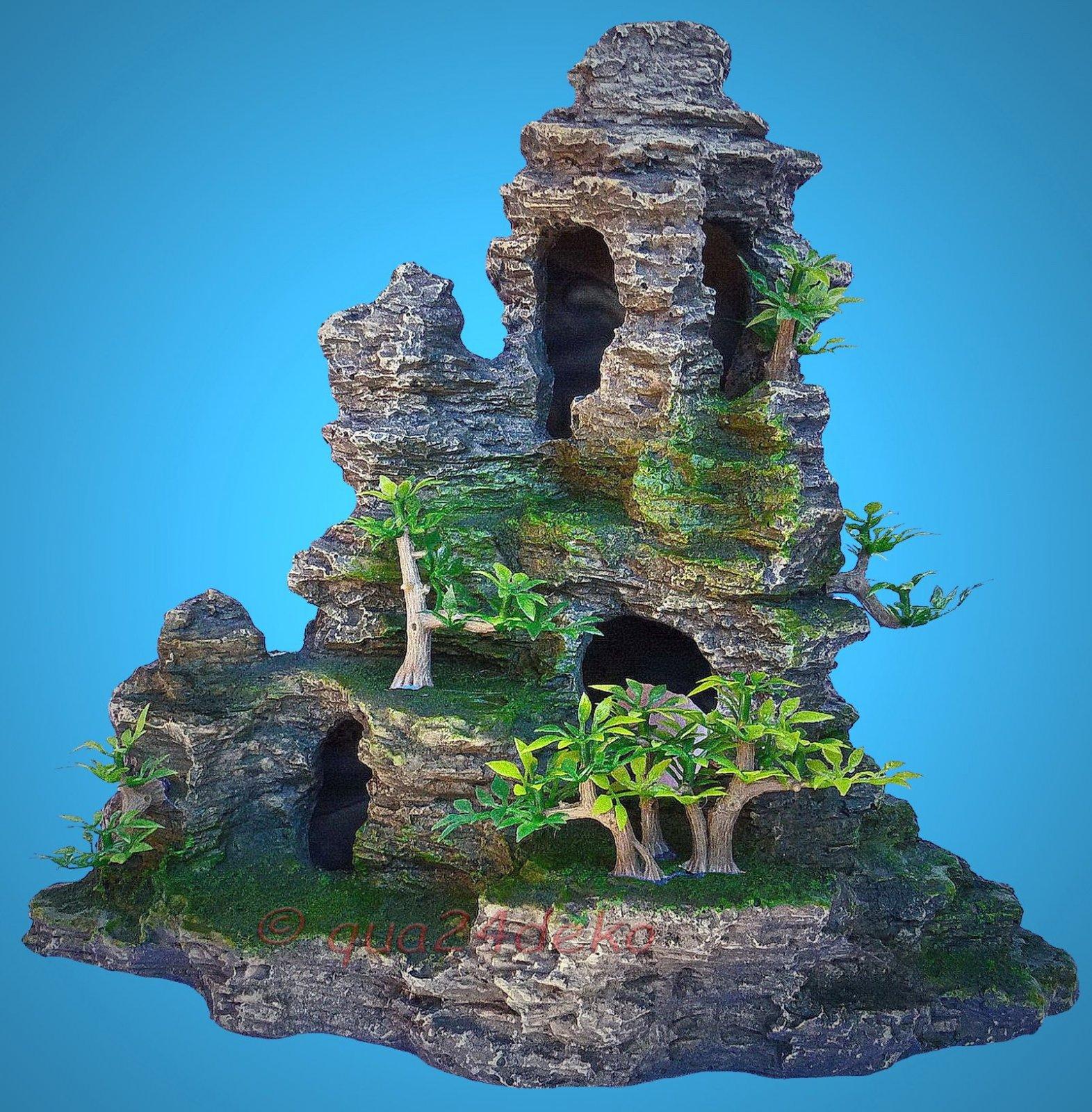 aquarium deko grotten fels laich h hle versteck terrarium dekoration zubeh r ebay. Black Bedroom Furniture Sets. Home Design Ideas