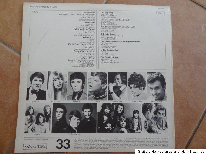 Alte Schallplatten Udo J 252 Rgens Schlager R 220 Ckblick 1970 Lp