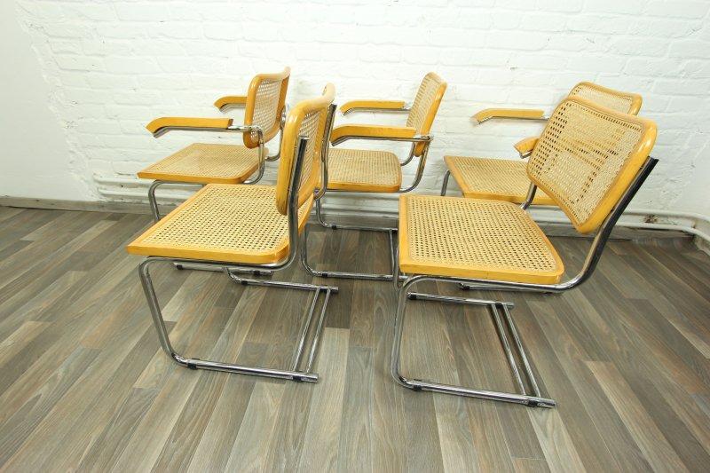 5x sch ne korbgeflecht st hle freischwinger thonet nachbau. Black Bedroom Furniture Sets. Home Design Ideas