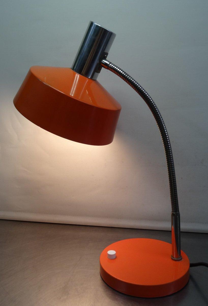 vintage 70 39 s orange kultige designer glas lampe tischlampe leuchte 70er ebay. Black Bedroom Furniture Sets. Home Design Ideas