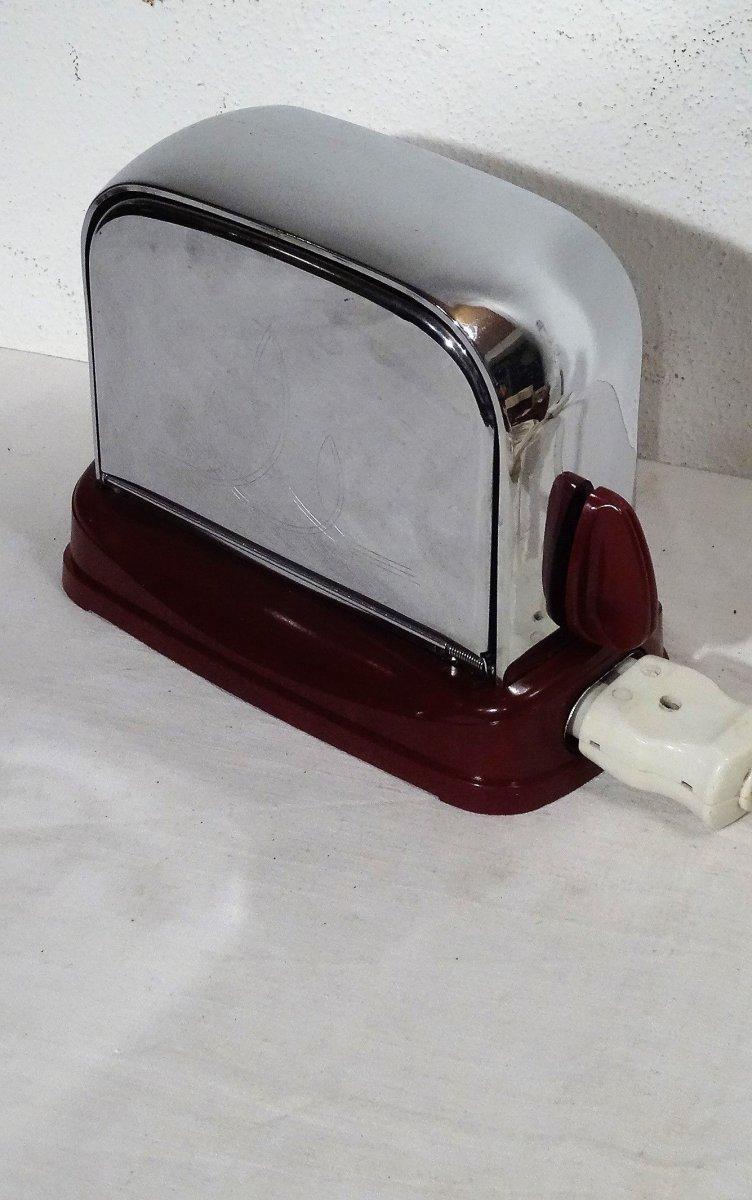 kultiger grossag toaster verchromt und rotes bakelit. Black Bedroom Furniture Sets. Home Design Ideas