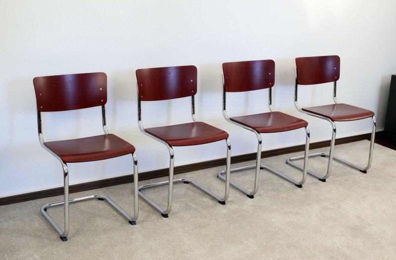 1x thonet s43 freischwinger bauhaus klassiker st hle. Black Bedroom Furniture Sets. Home Design Ideas