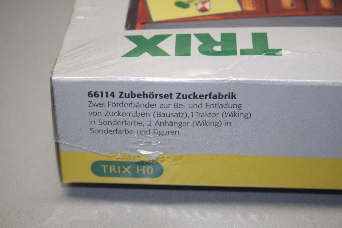 trix 66114 zubeh r set zuckerfabrik mit anh ngern und. Black Bedroom Furniture Sets. Home Design Ideas
