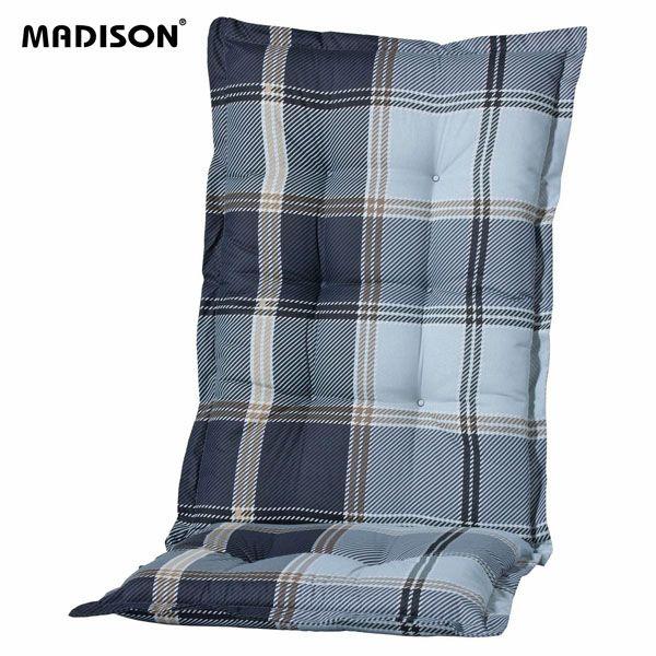 gartenm bel auflagen f r hochlehner in blau kariert gartenpolster kissen polster ebay. Black Bedroom Furniture Sets. Home Design Ideas