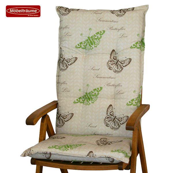 4 gartenpolster kissen sitzkissen bezug f r sessel gartenst hle beige braun gr n. Black Bedroom Furniture Sets. Home Design Ideas
