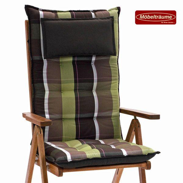 luxus auflagen f r hochlehner niederlehner sessel relax liegen b nke gr n braun ebay. Black Bedroom Furniture Sets. Home Design Ideas