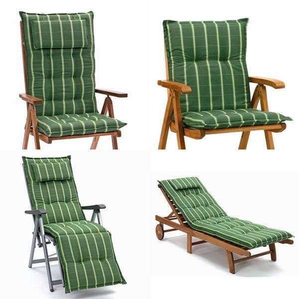 hochlehner sessel auflagen 9 cm dick mit kopfkissen sitzkissen gartenpolster ebay. Black Bedroom Furniture Sets. Home Design Ideas