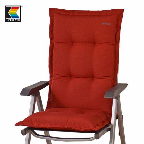 luxus auflagen f r hochlehner 9 cm dick in rot von kettler. Black Bedroom Furniture Sets. Home Design Ideas