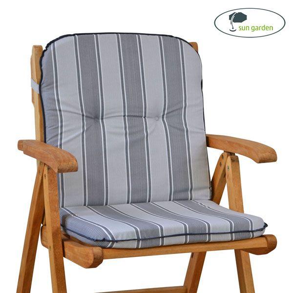 auflagen f r sessel stuhl niedrig niederlehner niedriglehner kissen in grau. Black Bedroom Furniture Sets. Home Design Ideas