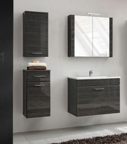 5 elemente badm bel set viento 80 hochglanz mdf badm bel mit waschbecken 80 ebay. Black Bedroom Furniture Sets. Home Design Ideas