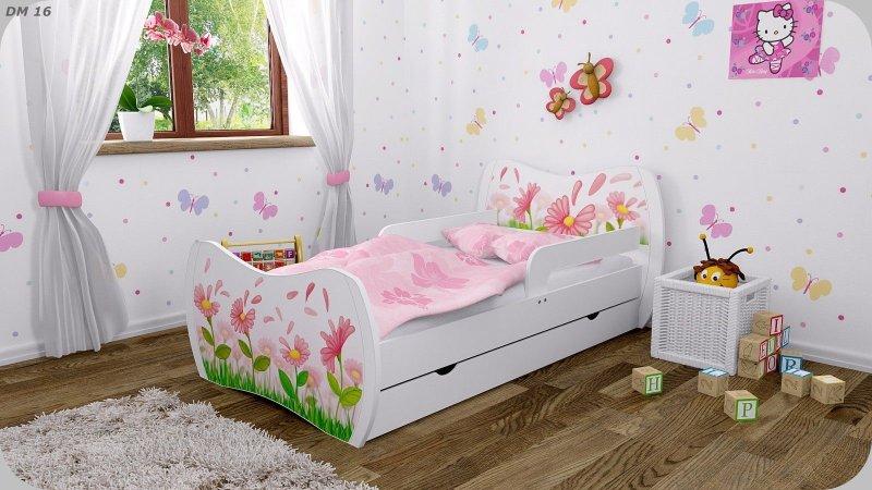 Kinderbett weiß bettkasten  DM Kinderbett Weiss mit Matratze Bettkasten und Lattenrost ...