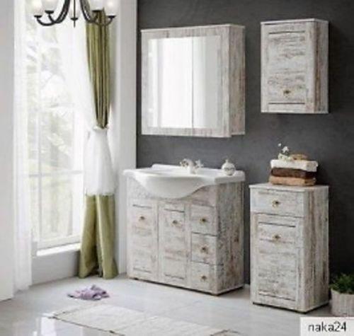 badm bel set provence 85 waschbecken mit 3 h ngeschr nken ohne hochschrank. Black Bedroom Furniture Sets. Home Design Ideas
