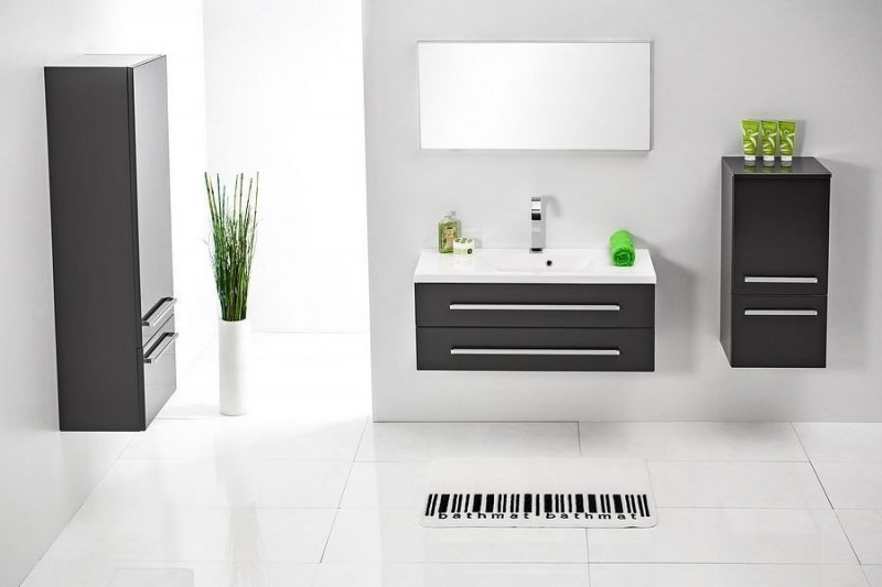 badm bel set 39 39 fdf 56 39 39 badm bel mit waschbecken 100 cm badezimmerm bel naka24. Black Bedroom Furniture Sets. Home Design Ideas