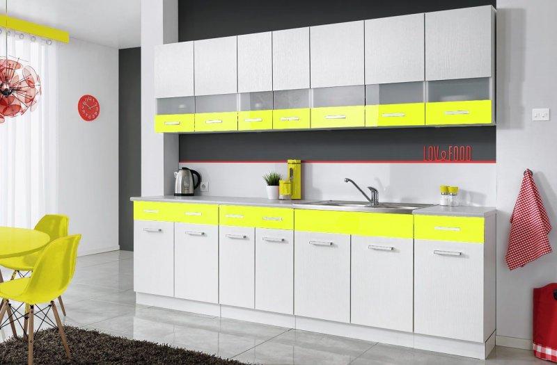 komplette k che mambe weiss 260 cm verschiedene farbkombinationen hochglanz neu isernhagen. Black Bedroom Furniture Sets. Home Design Ideas
