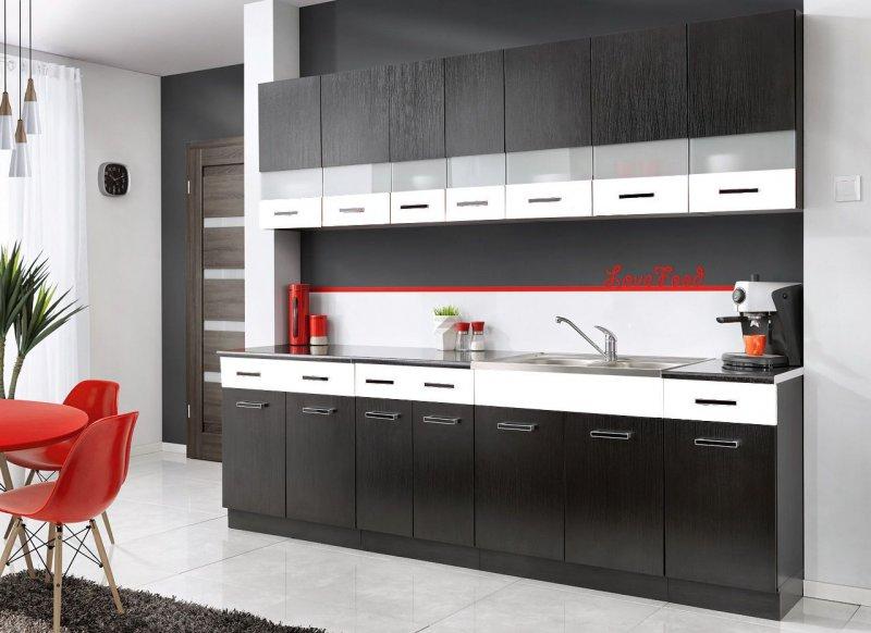 zum heranzoomen mit der maus ber das bild fahren komplette kueche mambe schwarz 260. Black Bedroom Furniture Sets. Home Design Ideas