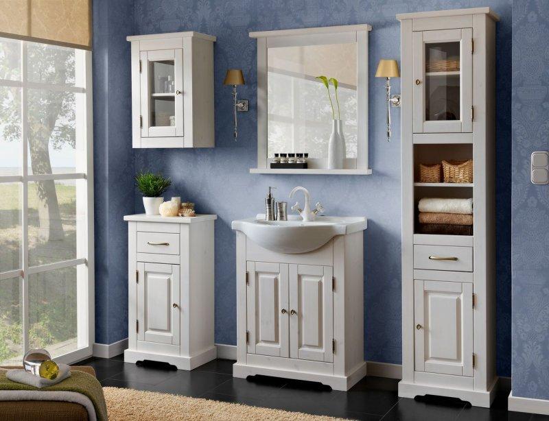 badm bel set romantik 65cm badm bel mit waschbecken massivholz badezimmerm bel ebay. Black Bedroom Furniture Sets. Home Design Ideas
