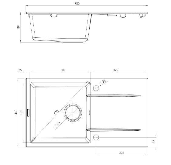 granitsp le einbausp le k chensp le sp lbecken mit. Black Bedroom Furniture Sets. Home Design Ideas
