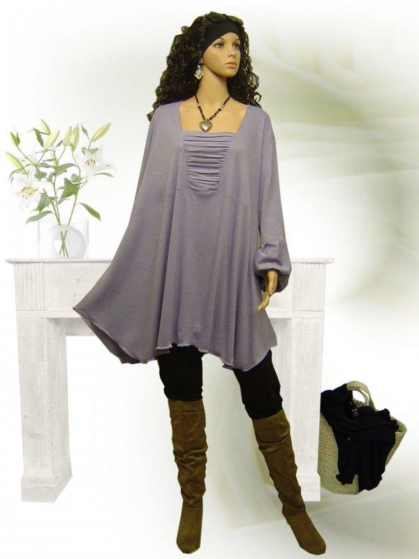 Poco design lagenlook tunika long shirt pullover for Farbe beere
