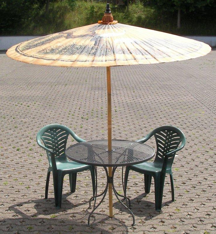 sonnenschirm gro asiatisch reiher bemalung sonnenschutz schirm garten terrasse ebay. Black Bedroom Furniture Sets. Home Design Ideas